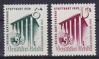 DR Mi Nr. 692 - 693 **, Reichs Gartenschau Deutsches Reich 1939, postfrisch, MNH
