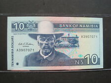 NAMIBIA $10 DOLLARS 1993 P1 AFRICA SPRINGBOK UNC 74# CURRENCY BANKNOTE MONEY