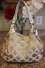 Coach Madison Beige Op Art Sateen Maggie Bag Purse 14305 (PU700