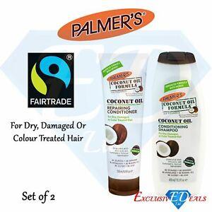 Palmers Coconut Oil Hair Care Shampoo 400ml & Conditioner 250ml Rich & Creamy