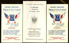 Polpex 1946 Kosciusko+draped flags Souvenir Sheet set, perf + imperf. Mnh (Ss46)