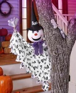 """50"""" Hanging BOO Smiling Friendly Flying Ghost Halloween Decor"""