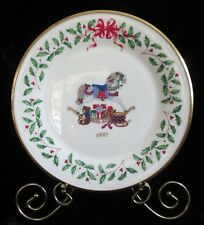 1992 2nd in series Lenox Annual Holiday Christmas Plate rocking horse drum bear