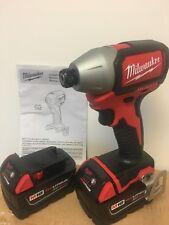 """NEW Milwaukee 2750-20 M18 1/4"""" Hex Brushless Impact + (2) 5.0AH Batteries"""