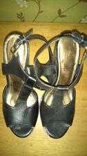 Topshop 100% Leather Sandals Block Heels for Women