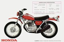 1970 HONDA SL350 VINTAGE MOTORCYCLE POSTER PRINT 24x36