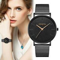 Geneva Luxury Damenuhr Edelstahl Herren Quarz Analog Armbanduhren H1R0