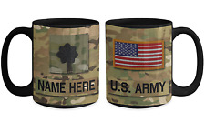 US Army Personalized Officer Mug, LTC (O5) US Army Gift for Dad/Mom/Son/Daughter