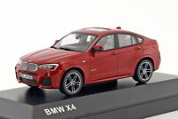 BMW X4 Red, official dealer model scale 1:43, new car mens gift