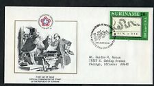 SURINAME 1976 FDC AMERICAN BICENTENNIAL FRANKLIN'S DIVIDED SNAKE POSTER 1754