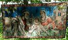 Italian Velvet Wall Tapestry The Holy Family May Jesus and Joseph