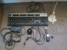 hp computer Keyboard Dell Laptop AC Adapter Creative Microphone Mouse PC Camera