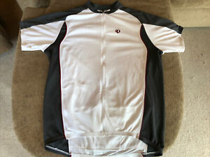 PEARL iZUMi Cycling Jersey Men's XXL 2XL Race Fit, fits like XL, White Gray Red