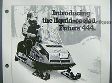 "Orig Vintage 1978 Bombardier ""Futura 444"" Moto-Ski Snowmobile Dealer Sales Sheet"