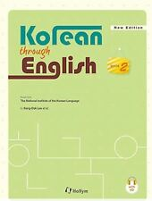 Korean Through English 2 with MP3 CD Text Book Korea Language Hangul Learn Study