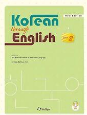 Korean Through English 2 with MP3 CD Text Book Korea Language Hangul Learn Study