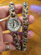 Vintage Geneva Leather wrap Ladies watch, running w/new battery installed M