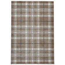 Think Rugs Wellness 6630 Tartan Check Rug Sand W120cm X L170cm