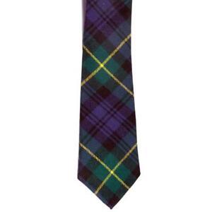 100% Wool Traditional Scottish Tartan Neck Tie - Gordon
