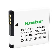 1x Kastar Battery for Canon NB-8L PowerShot A2200 A3000 A3100 A3200 A3300 IS