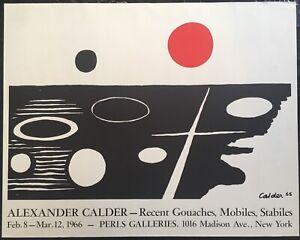 Alexander Calder American Artist Perls Galleries Poster 1966