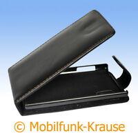 Flip Case Etui Handytasche Tasche Hülle f. LG E610 Optimus L5 (Schwarz)