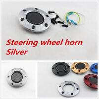 Carbon Fiber Racing Car Steering Wheel Horn Button + Cover For Toyota Cars
