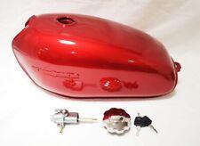 Honda CB125 S Petrol Tank - Locking Petrol Cap - Petrol Tap / Cock In Red Primer