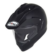 Casco moto enduro Suomy Mx Tourer Mono nero opaco yamaha