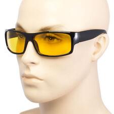 SPORT WRAP HD NIGHT DRIVING VISION SUNGLASSES BLACK HIGH DEFINITION GLASSES