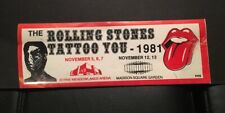 1981 The Rolling Stones Tattoo You Bumper Sticker Madison Square Garden Concert