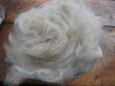 250g Fine Raw White Alpaca Fleece Spinning Felting Padding