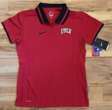 New Nike Women Unlv Nevada Las Vegas Rebels Staff Football Sideline Polo Shirt M