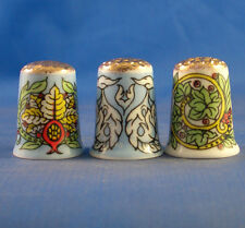 Birchcroft Thimbles -- Set of Three  -- Gold Top William Morris ( Make Offer )