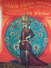 Grateful Dead Fare Thee Well GD50 Poster Art Helton Status Serigraph