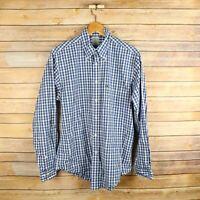 BROOKS BROTHERS Men's Slim Fit Long Sleeve Button Front Shirt M Medium Blue