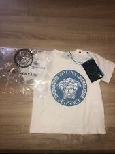 Young Versace Tshirt With Blue Velvet