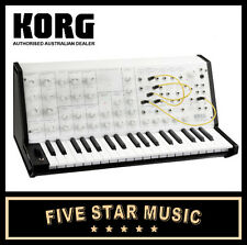 KORG MS20 MINI WHITE MONOTONE ANALOGUE MONO SYNTHESIZER MS-20 ANALOG MONOSYNTH