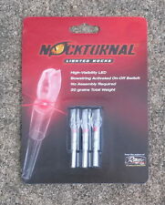 3 pack - Nockturnal X Nock Lighted Arrow Nocks -- Red