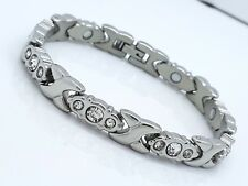 LADIE'S ELEGANT  BIO MAGNETIC BRACELET 4 in 1 WITH  ZIRCON STONES MZ4
