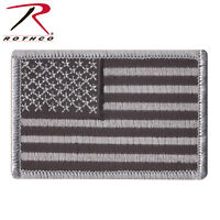 Black & Gray  American Flag  Patch  Hook and Loop  Airsoft