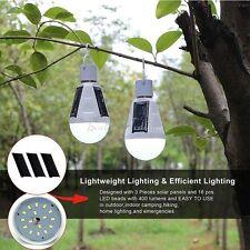 White 16 LED Solar Landscape Spot Light Garden Light Lamp Bulb Hook Travel Light