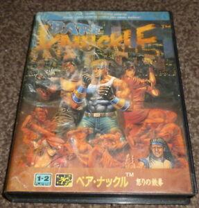 Sega Mega Drive - Bare Knuckle ( Streets of R)- Japanese Case - UK Cart - tested