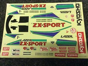 Alte vintage Decals Aufkleber fur Kyosho Lazer ZX Sport original