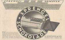 Y4113 SPRENGEL Schokolade - Pubblicità d'epoca - 1925 Old advertising