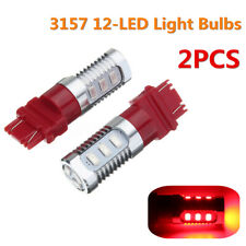 2x Red 3157 LED Bulbs Flashing Strobe Blinking Lights Brake Tail Stop    /