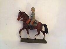 B44/   Lineol Soldaten Figur General Reiter zu Pferd 2 Wk. von ca. 1935