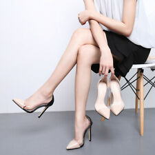 Womens Sexy Clear Transparent Mixed Colors Stilettos Pointed Toe High Heel Shoes