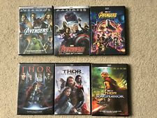 Avengers Trilogy and Thor Trilogy DVD Movie Bundle 6-Movie Set Free Shipping!