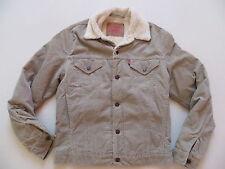 Levi's ® Jeans Cord Jacke mit Teddy Fell Gr. M, beige, Warm gefüttert, wie NEU !